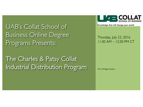 UAB Program Overview: Online Bachelor of Science in Industrial Distribution Program